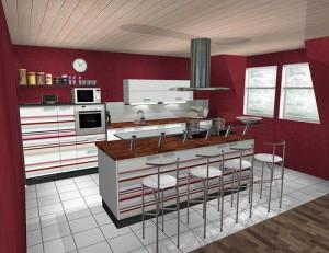 moderne offene k che oder nicht wohnk chen eigenheim abc. Black Bedroom Furniture Sets. Home Design Ideas