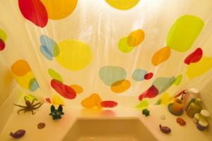 badezimmer duschvorhang
